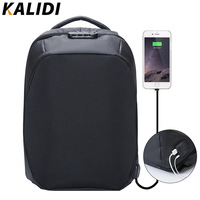 KALIDI Anti theft Backpack 15.6 inch Waterproof Backpack Men USB Charger Travel School Bag for Teenage Laptop Backpack 15 Inch