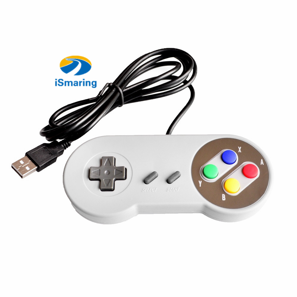 2pcs Controller SNES USB Classic Gamepad joystick Diy RC Toy for PC MAC Games for Win98/ME/2000/2003/XP/Vista/Windows7/8/Mac <font><b>os</b></font> image