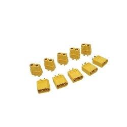 5 Pairs AMASS XT60 XT-60 Male Female Bullet Connectors Plug for RC Battery ESC Motor Part [vk] 553602 1 50 pin champ latch plug screw connectors