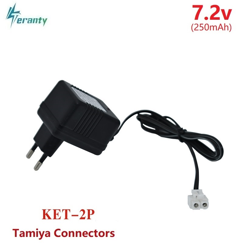 7.2v Charger For NiCd NiMH Battery Pack Input 100v-240v Output 7.2V 250mAh Tamiya Connectors 7.2v Charger For RC Toys Cars Tanks