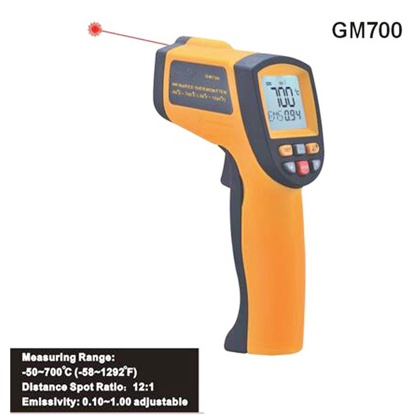 GM700 portable infrared thermometer IR Laser Digital Industrial thermometer