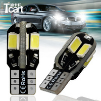 Tcart 2pcs Error Free Car Led Clearance Lamps Licence Plate Lights T10 W5W 194 5730 8smd