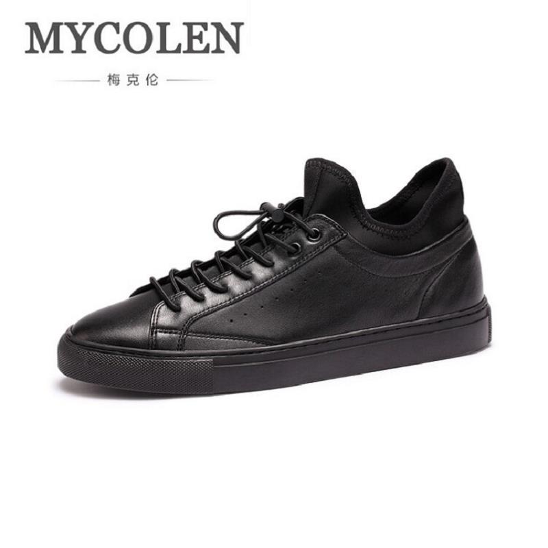 MYCOLEN New Brand Designer Men Casual Shoes Autumn Shoes Men Flats High Quality Male Leather Shoes Zapatillas Hombre Deportiva mycolen new autumn winter men black casual shoes men high tops fashion hip hop shoes zapatos de hombre leisure male botas