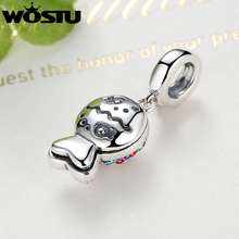 925 Sterling Silver Colorful Fish Charm Bead Fit Original Pandora Bracelet Necklace
