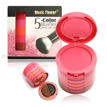 Ladies 5 Colors Makeup Blusher Palette Soft Natural Blush Powder Cosmetic Beauty
