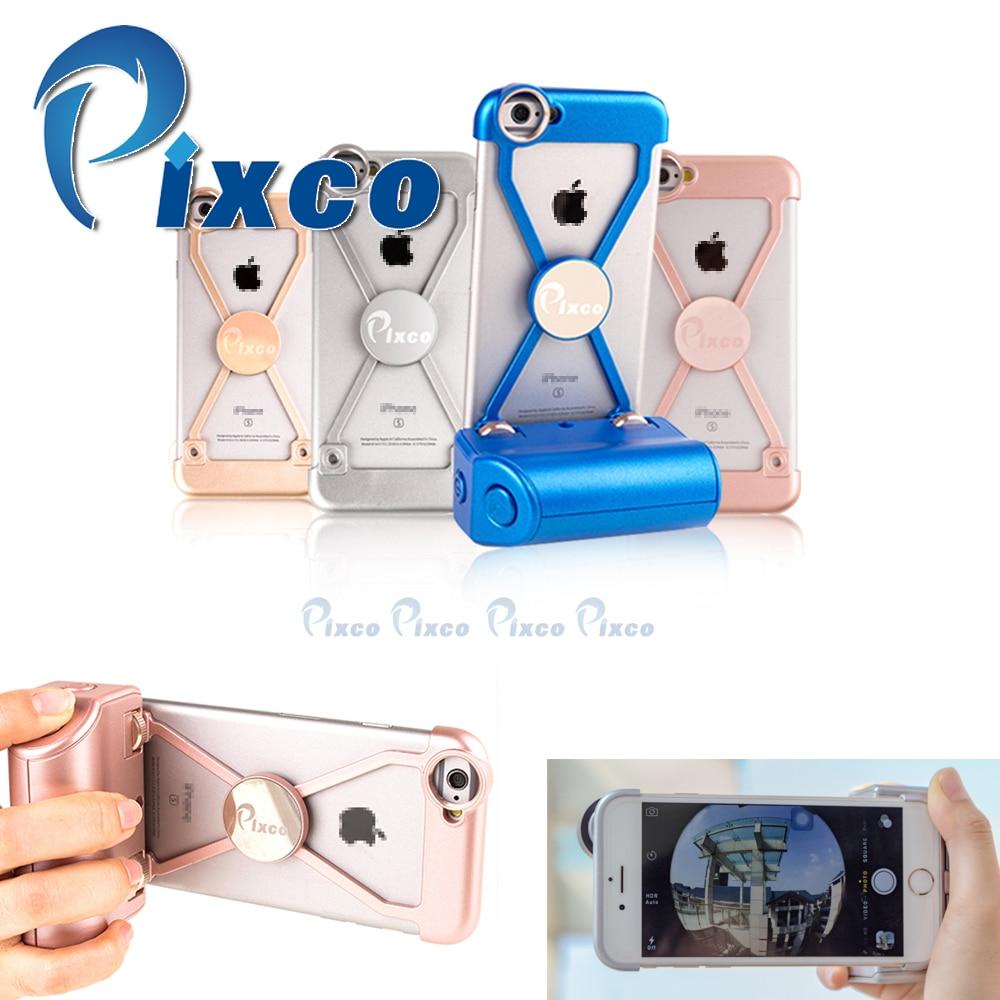 Pixco Selfie Sticks iP.hone case 4.0 bluetooth adapter bluetooth camera remote Shockproof phone case Suit For I6
