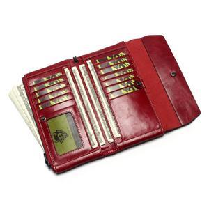 Image 3 - Bolso de teléfono para mujer, Cartera de cuero genuino con cera de aceite suave, bolso de mano largo de diseñador para hombre, billetera de marca de lujo, monedero con cremallera