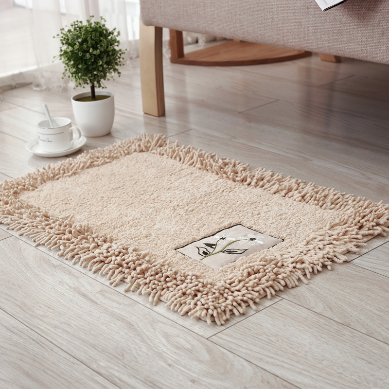 Bathroom Products Non Slip Rugs Doormat Water Absorption Chenille Bath Mat Solid Bathroom Mats Kitchen Bedroom Toilet Floor Carpet 50*80/60*90cm And To Have A Long Life. Bath Mats
