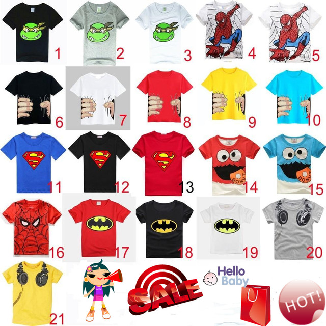 HOT 2016 New children clothes boys girls unisex t shirt cartoon Minions kids short sleeve t-shirts 100% cotton