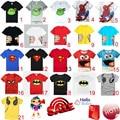 HOT 2017 Nova Verão crianças roupas das meninas dos meninos unisex t shirt Asseclas desenhos animados caçoa t-shirt de manga curta 100% algodão