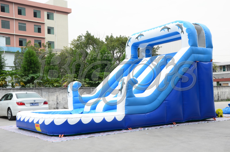 FREE SHIPPING BY SEA 9M*6M*6M Commercial Inflatable Water Slide Inflatable Jumping Slide With Pool For Kids 2017 popular inflatable water slide and pool for kids and adults