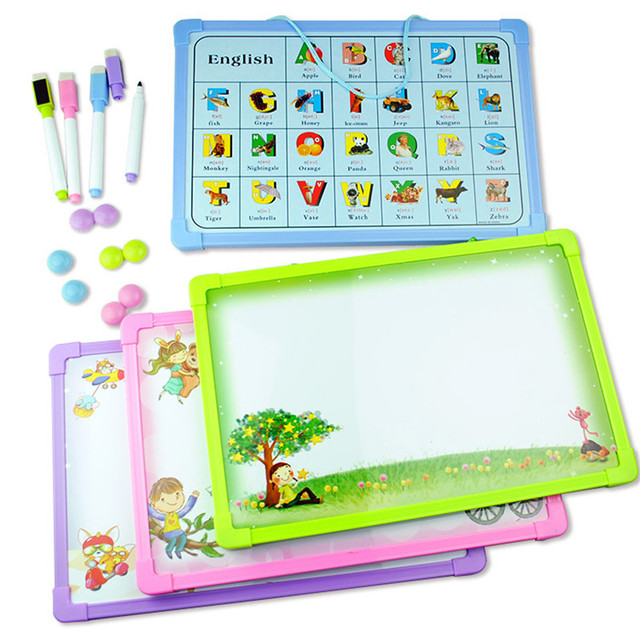 4pcs/lot Magnetic Home teach education small whiteboard