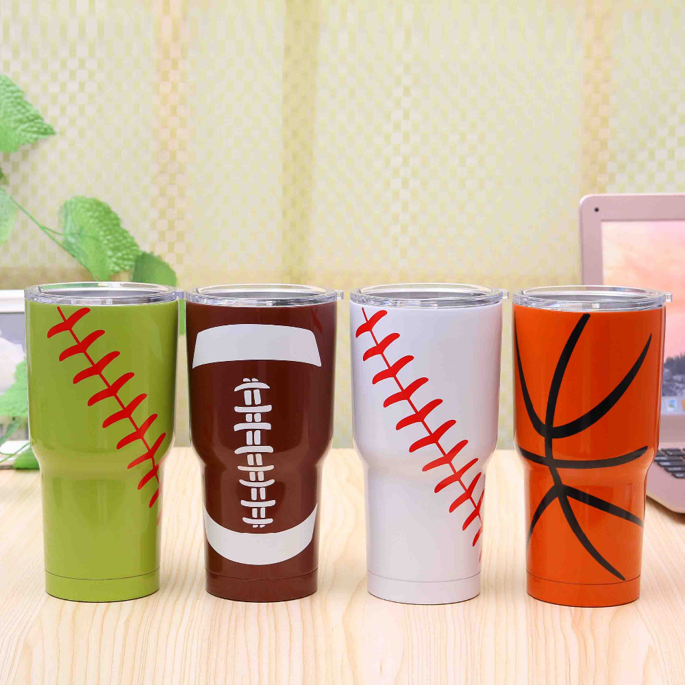 4a834259268 Stainless Steel Tumbler Mug Basketball Design