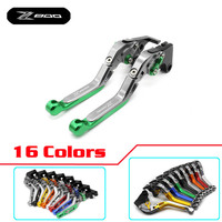 With Logo(Z800) Green Motorcycle CNC Extendable Brake Clutch Levers For kawasaki Z800/E version 2013 2014 2015 2016