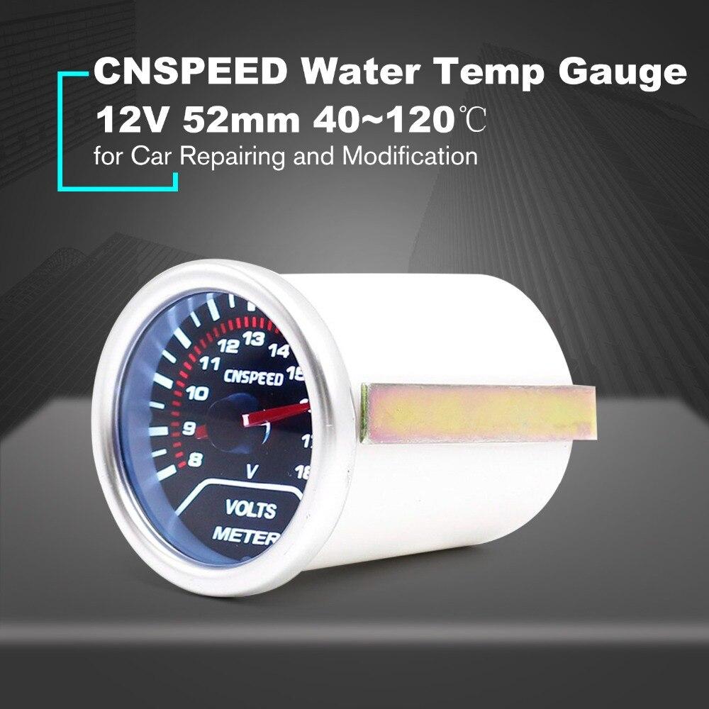 12V 120 Celsius Auto Car LED Digital Water Temp Gauge Temperature Meter 52mm Smoke Lens Universal For Car Modification