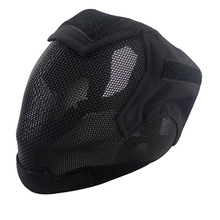 Free Shipping Steel Net Mesh Fencing Cosplay Mask Full Cover Face Protective Tactical Military Paintball airsoft Mask Outdoor