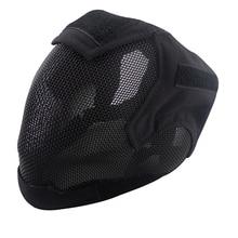 Gratis Verzending Steel Net Mesh Fencing Cosplay Masker Volledige Cover Gezicht Beschermende Tactische Militaire Paintball airsoft Masker Outdoor