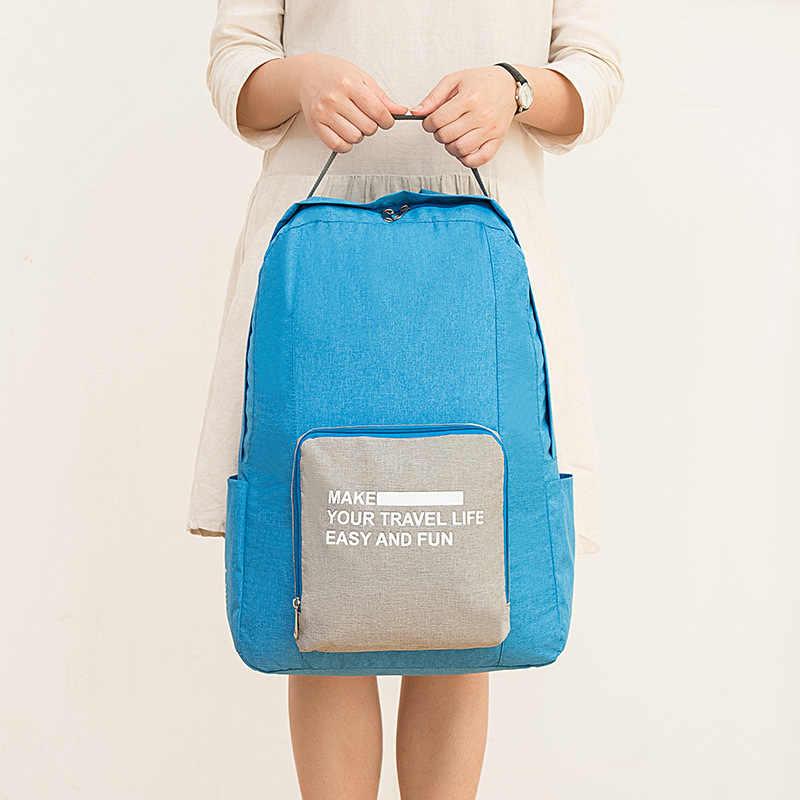 Походный рюкзак унисекс школьный рюкзак для ноутбука Полиэстер портативный складной водонепроницаемый рюкзак и женские багажные дорожные сумки