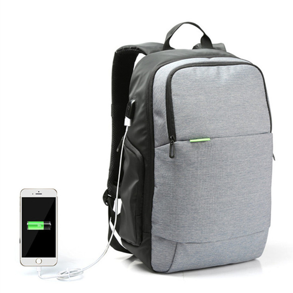 Newest Waterproof External USB Charge Laptop Backpack Anti-theft Notebook Computer Bag 15.6 inch for Business Men Women