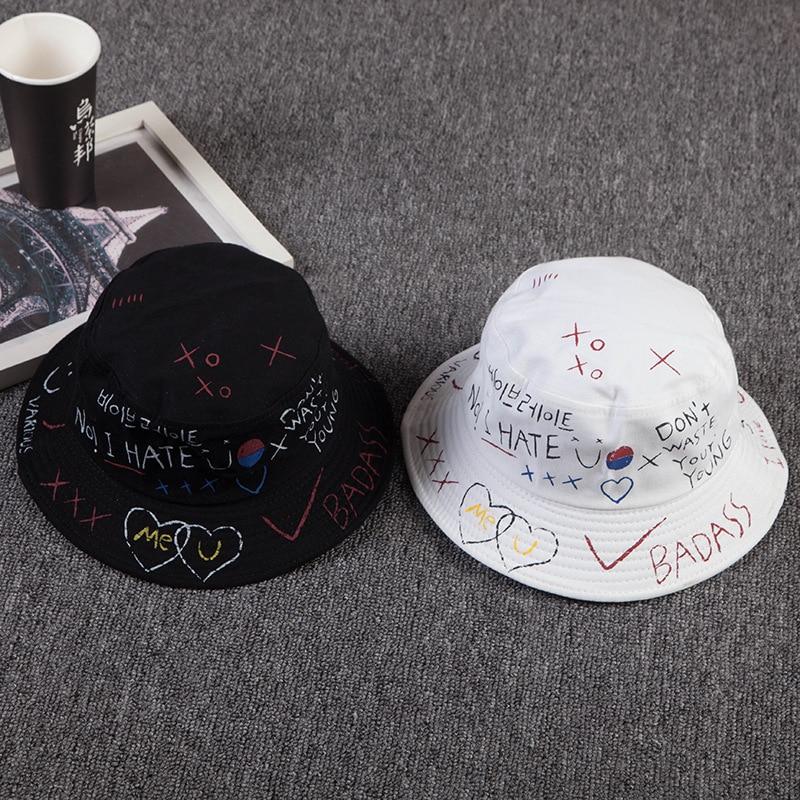 f6a44a3f014 Unisex Harajuku Bucket Hat Fishing Outdoor Hip Hop Cap Men s Summer For  Fisherman Hat Women 2018 New Bone Feminino