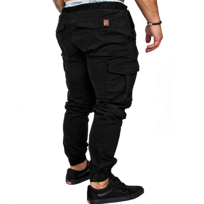 2019 رجل السراويل موضة جديدة بنطال رياضي الرجال اللياقة البدنية كمال الاجسام السراويل للعدائين الملابس الخريف Sweatpants حجم S-3XL