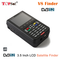 2018 NEW V8 Finder 3.5 inch LCD HD satellite finder DVB S2 sat finder digital satellite Finder Meter Free Ship from Spain