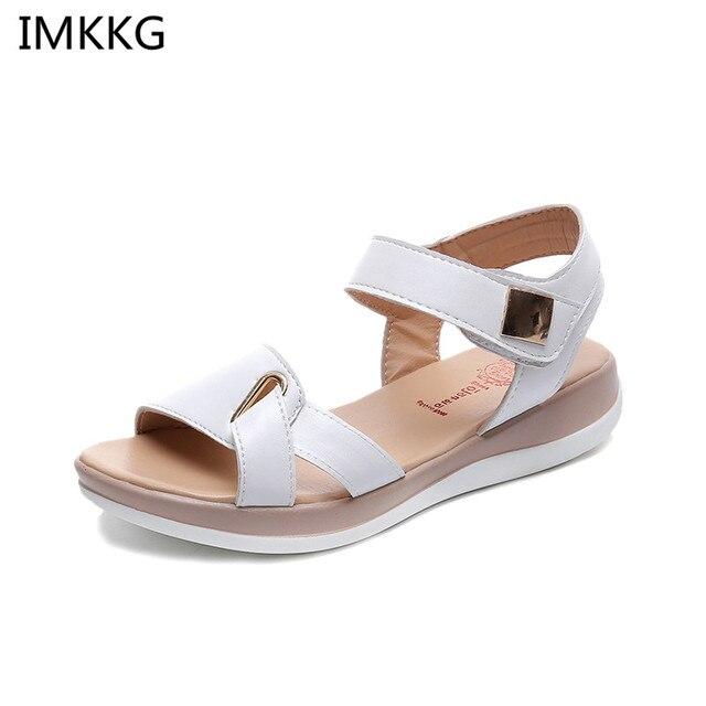 d6b11658 2018 nuevo verano Sandalias de las mujeres zapatos planos zapatos de mujer  casuales cómodos Sandalias de mujer calzado Q376