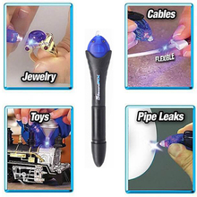 цена на Newest 1PC 5 Second Fix UV Light Pen Glass Glue Repair Tool With Glue Super Powered Liquid Plastic Welding Compound