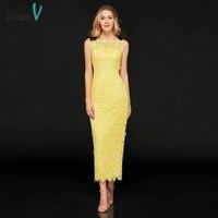 Платье яркое желтое коктейльное платье элегантное платье футляр на шнуровке на молнии длиной до колена свадебное вечернее платье коктейль