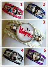 1pc chica vampiro pulseira de vidro algemas pulseira de filme dos desenhos animados encantos pulseira