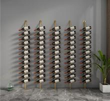 Art Ground Red Wine Rack with Inclined on the Wall Creative Cabinet Display
