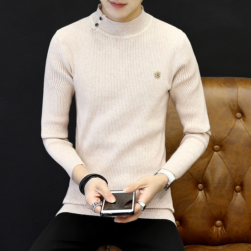 Turtleneck Clothes 2019 Classic Simplicity Pullover Sweater Men Solid Long Sleeves Green Black Mens Sweaters Free Ship