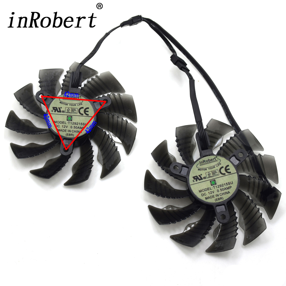 New T129215SU 87mm Cooler Fan For NVIDIA GeForce GTX 950 960 RX480 R9 390X R9 380X 12V 0.50A 4Pin Graphics Card Cooling Fan цена