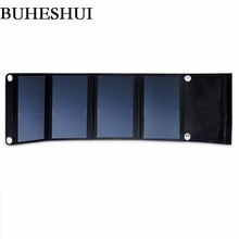 5V 22W High Efficiency Solar Panel Charger Fordable Dual USB Output Solar Cell Charger For Mobile Phone/Power Bank Free Shipping