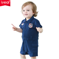 High Quality Brand Newborn Baby Boy Rompers Cotton Short Sleeved Gentleman Suit Infantil Toddler Jumpsuit Baby