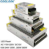 12V LED Transformer Power Supply Switch Adapter AC 110V-240V TO DC 12V 1.25A 2A 3A 5A 6.5A 10A Driver For Led Strip Lights