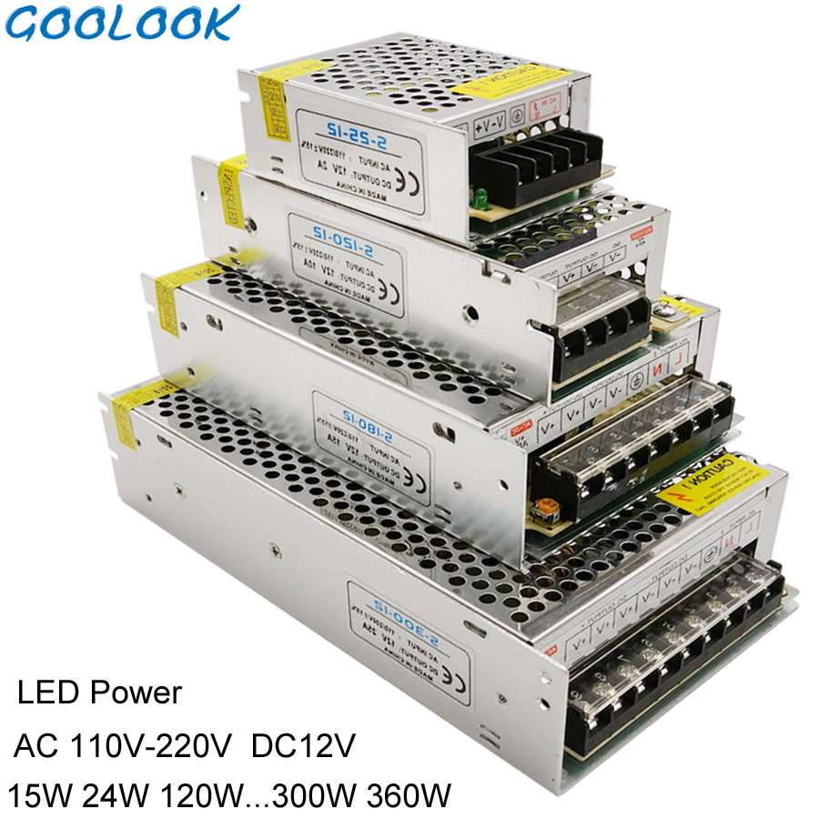 <font><b>12V</b></font> LED Transformer <font><b>Power</b></font> <font><b>Supply</b></font> Switch Adapter AC <font><b>110V</b></font>-240V TO DC <font><b>12V</b></font> 1.25A 2A 3A 5A 6.5A 10A Driver For Led Strip Lights image