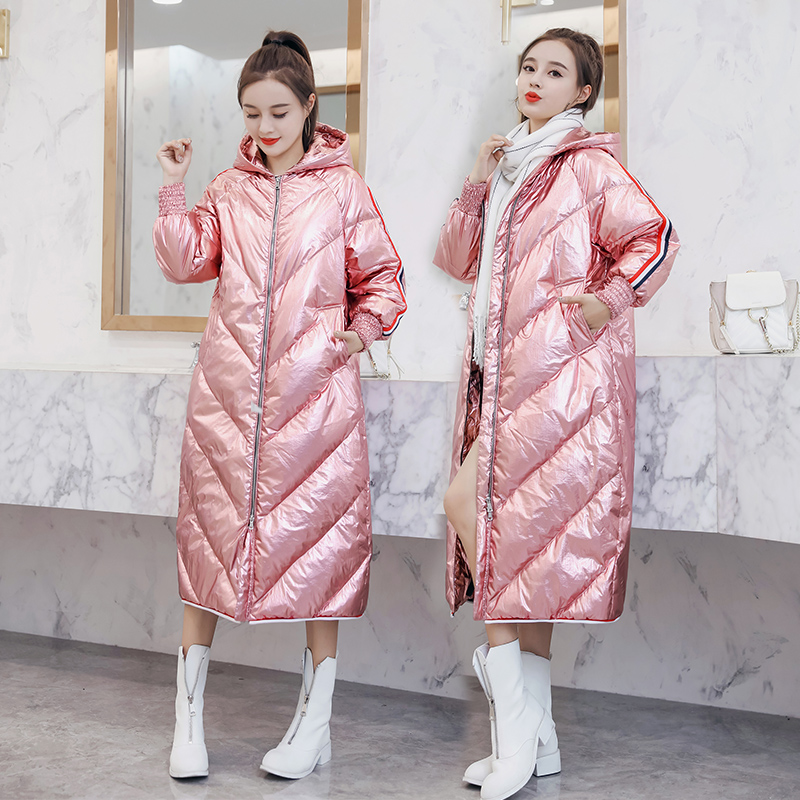 Winter Parka Jacket Women 2019 new Arrival Winter Clothes   Coats   90% White Duck   Down   Jacket Hooded Glossy Warm Parka for Women