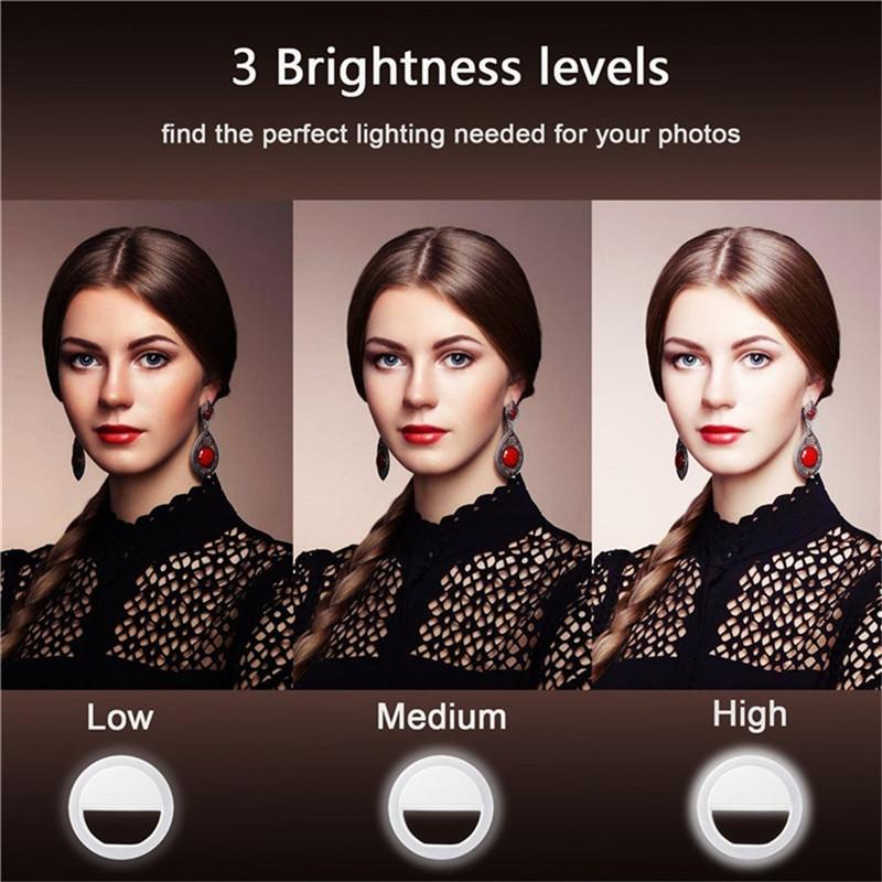 Iluminación fotográfica de Selfie Ring selfie luz con anillo de - Cámara y foto - foto 3