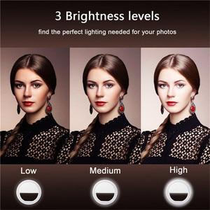 Image 3 - Selfie טבעת selfie אור צילום תאורה עם USB תשלום ringlight Led טבעת עבור iPhone 6 7 X xiaomi אור עבור תמונה