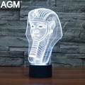 Free Ship Pharaoh Table lamp 7 Colors Changing Desk Lamp 3D Lamp Novelty Led Night Light USB LED Light luminaria Nightlights