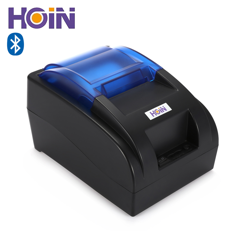 HOIN HOP - H58 58mm USB / Bluetooth Thermal Cash Receipt Printer POS Printing Instrument Support Android iOS 90mm/sec 58mm bluetooth android thermal receipt pos printer printing ticket machine support many language quality products on sale