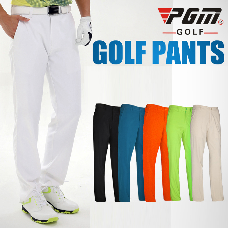 PGM Mens Solid Golf Sports Pants, Golf Tour Performance Dri-Fit, Solid Golf Style Pants Fit