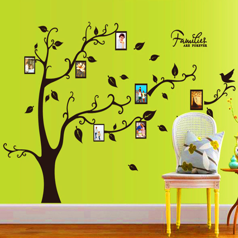 [Fundecor] 3d frame photo tree wall sticker home decor living room bedroom Vinyl furniture decals on the wall self adhesive film