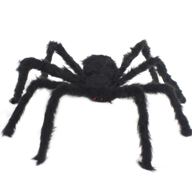 halloween decoration horror toys realistic black spider pranks bar practical jokes toys funny furry spider gifts