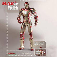 1/4 Scale Play Imaginative Super Alloy Iron Man Mark 42 Collection Figure [manual version] cattoys 1 1 full scale iron man wearable abs helmet mark 42 mark 43 mk42 mk43 mask replica with led light