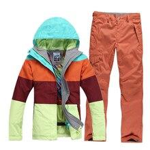 2016 women skiing jacket mixed colors snowboard jacket ladies ski jacket snow parka skiwear waterproof breathable warm