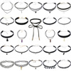 24pcs Package Integration Choker Necklace Boho Fashion Classic Punk Women Neck Jewellery Crystal Alloy Bead Necklace