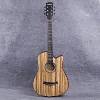 38 дюймов в народном стиле гитары зебры древесины для начинающих студент Pratice гитара