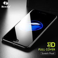 Benks High Configuration Sapphire Coating Tempered Glass For IPhone 8 7 Screen Protector Full Cover Border